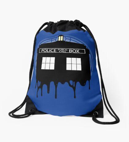 Time drip Drawstring Bag