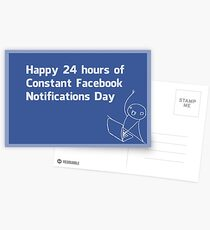 Happy Constant Facebook Notification Day Postcards