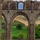 An arch in the ruins of Llanthony Priory - Wales by NeilAlderney
