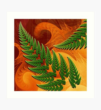 Leaftips in Forest Art Print
