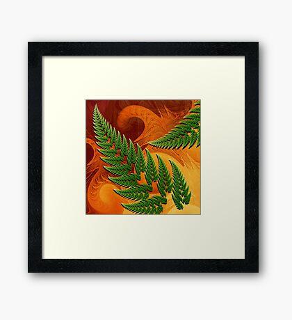 Leaftips in Forest Framed Print