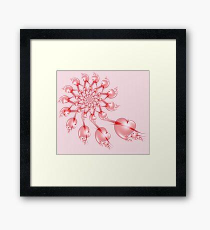 Pinwheel Valentine Framed Print