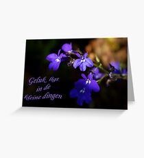 Sweet Lobelia - Geluk Greeting Card