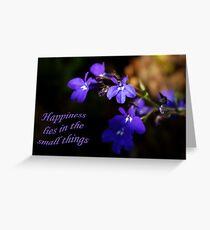 Sweet Lobelia - Happiness Greeting Card