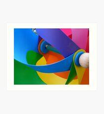 Rainbow Whirlybird Art Print