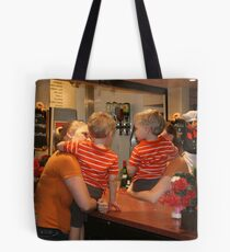 The boys at the bar.  Tote Bag