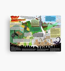 HarryHausen Infographic Canvas Print