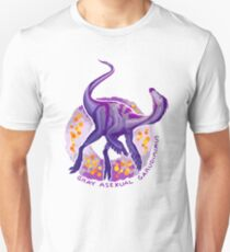 Gray Asexual Garudimimus (with text)  Unisex T-Shirt