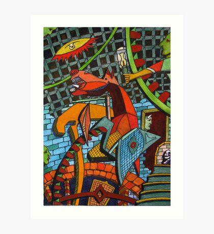 161 - GUERNICA (WATERCOLOUR & INK) Art Print