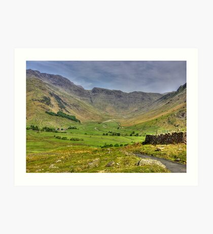 The Valley - Lake District Art Print