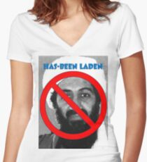Has-been Laden Women's Fitted V-Neck T-Shirt
