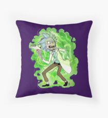 Y-y-you're a good kid, Morty Throw Pillow