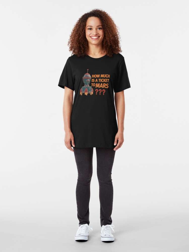 Alternate view of Ticket to Mars. Slim Fit T-Shirt