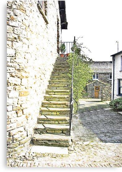 The Steps - Dent Cottage by Trevor Kersley