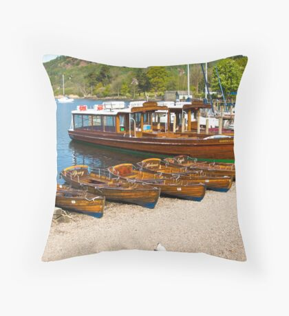 Queen of the Lake Throw Pillow