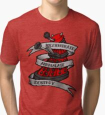 Red Dalek Tri-blend T-Shirt
