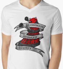 Red Dalek Men's V-Neck T-Shirt