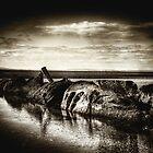 Sunken WWII Submarine, Aberlady Beach, East Lothian, Scotland by Den McKervey