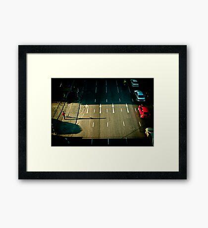 Faster Framed Print