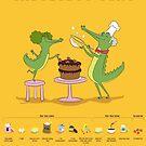 Very Choccy Chocolate Cake illustrated recipe by Jack Chadwick