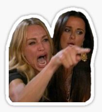 Real Housewives Cat Meme Sticker