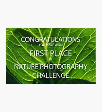 NATURE PHOTOGRAPHY CHALLENGE BANNER Photographic Print