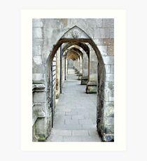 Winchester Cloisters Art Print