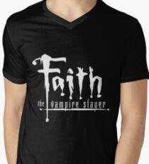 Faith the Vampire Slayer Men's V-Neck T-Shirt