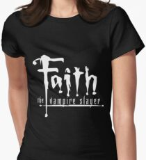 Faith the Vampire Slayer Womens Fitted T-Shirt