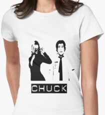 Chuck and Sarah Womens Fitted T-Shirt