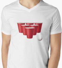 Beer Pong Men's V-Neck T-Shirt