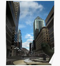 Montreal towards Mount Royal Poster
