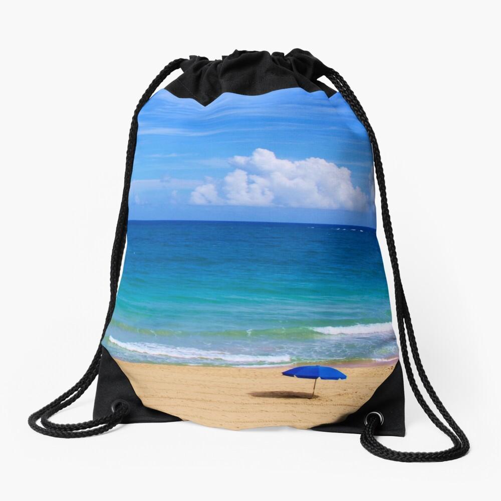 Beautiful Beach Scene Drawstring Bag