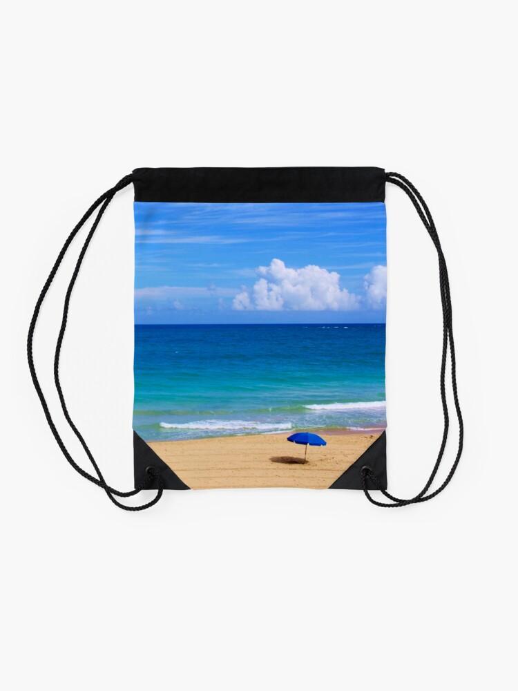 Alternate view of Beautiful Beach Scene Drawstring Bag