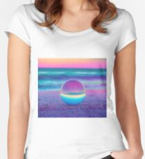 Sunset Lensball Fitted Scoop T-Shirt