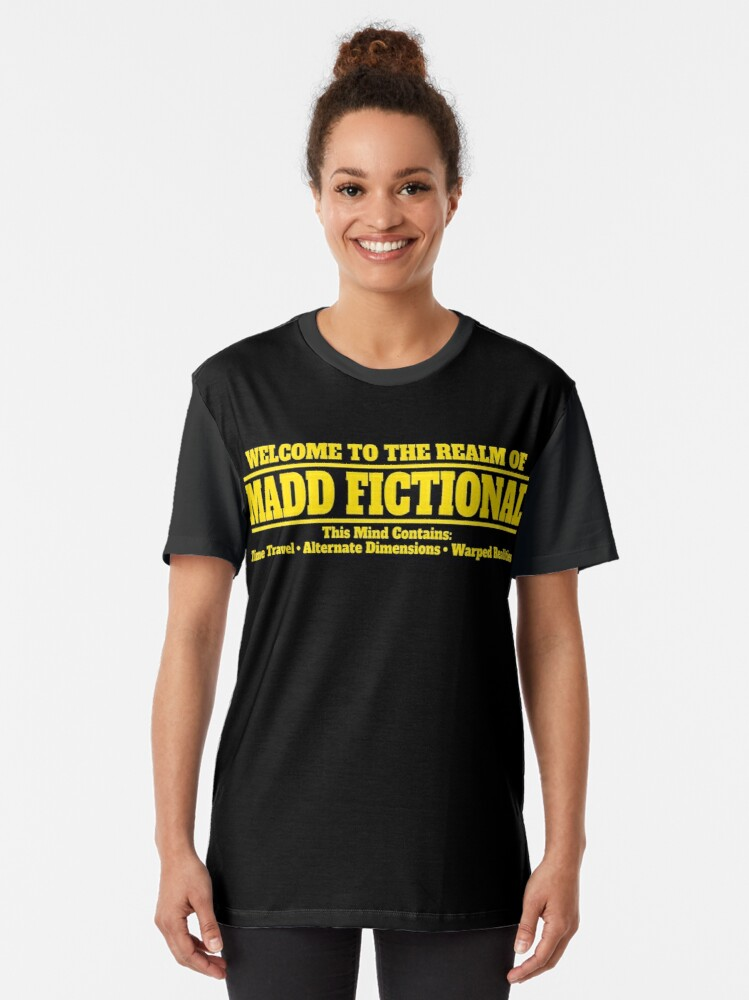 Alternate view of Madd Fictional Graphic T-Shirt