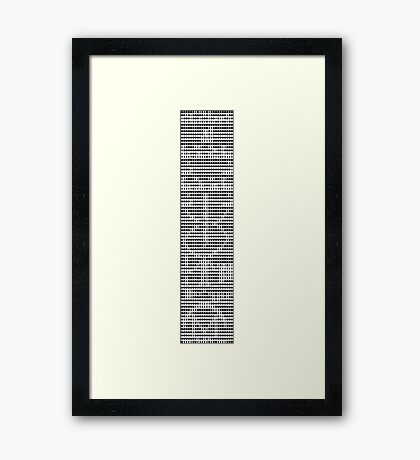 The Arecibo Message 0001 Framed Print