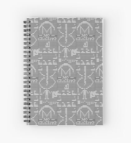The Arecibo Message 0001 Spiral Notebook