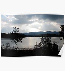 Lake in Da Lat mountains Poster