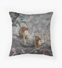 Dwarf Mongoose, Serengeti, Tanzania  Throw Pillow