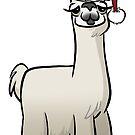 Christmas Llama by binarygod