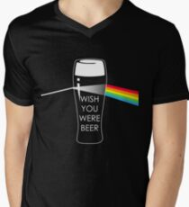 Wish you were beer Men's V-Neck T-Shirt