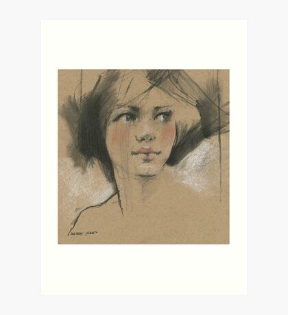 in sketch book Art Print