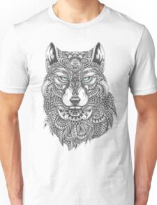 Very Intricate Wolf Illustration T-Shirt