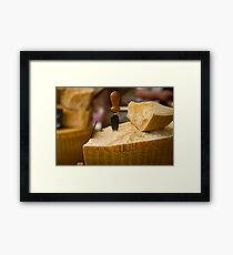 A slice of parmesan cheese Framed Print