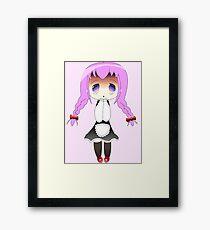 Chibi Anime Maid Framed Print