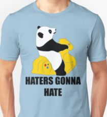 Haters Gonna Hate: Panda Slim Fit T-Shirt