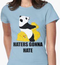 Haters Gonna Hate: Panda Women's Fitted T-Shirt