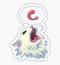8-Bit-Shrimpin 'Thurston die Katze Sticker