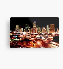 Denver Skyline at Night from Park Ave Metal Print